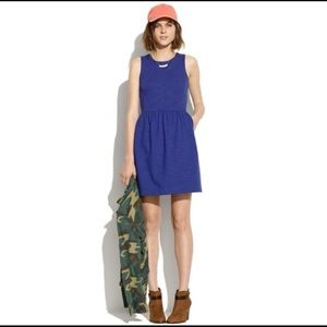 Madewell indigo afternoon dress fit flare medium